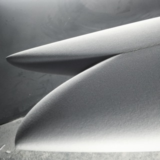 Tail of a surfboard blank