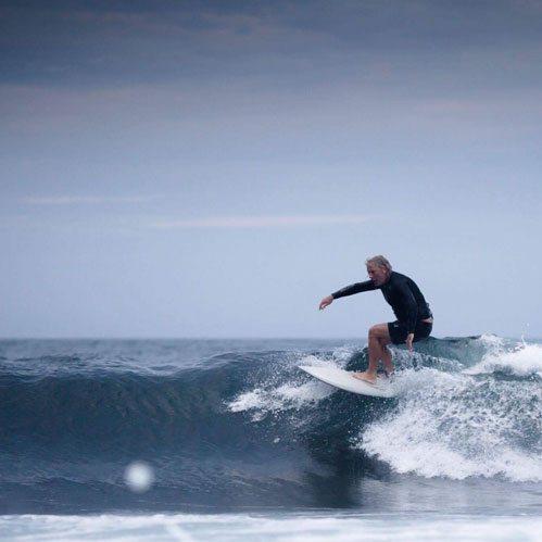 Stuart Paterson riding a Flat Fish