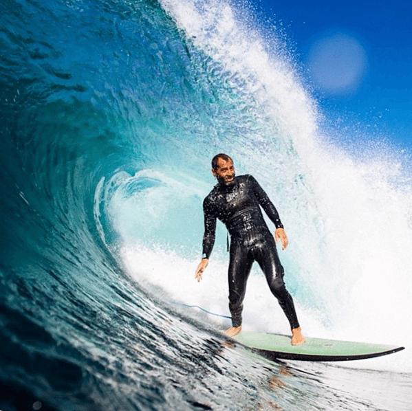 Terapai Richmond barreled on PCC Surfboard