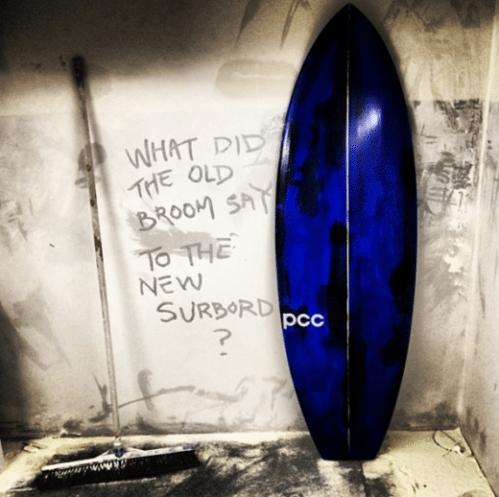 dusty surfboard