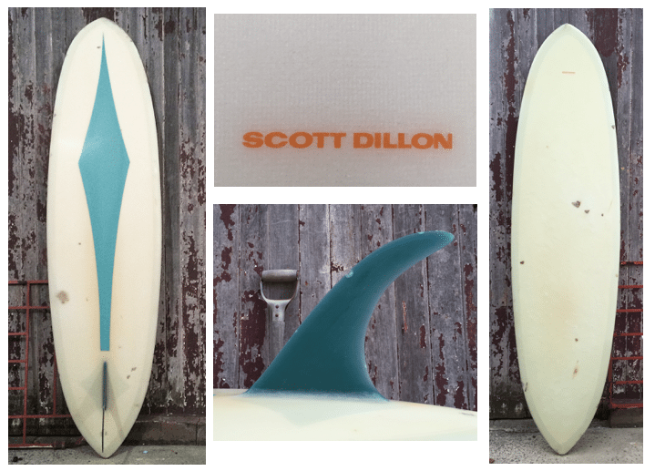 Sott Dillion surfboard collage